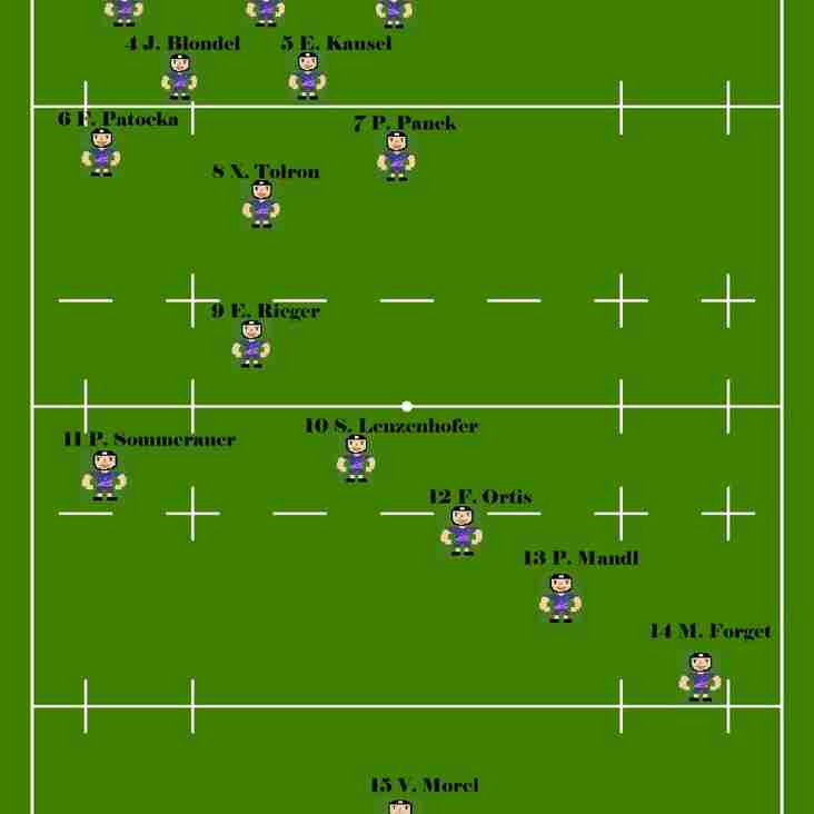 29.09 - Our A-Team to play Rugby Union Donau Wien for the start of the league