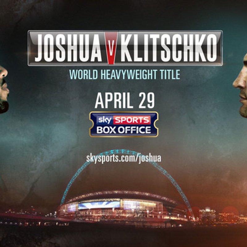 Anthony Joshua v Wladimir Klitschko - Live in HD at Gosforth Fields - Sat 29th April