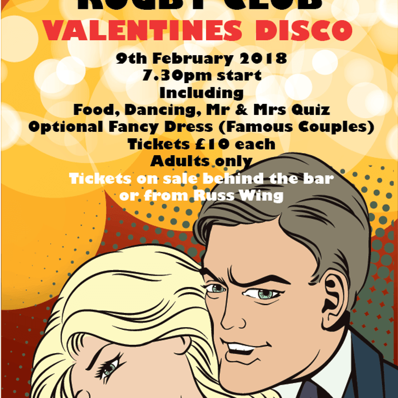 Valentines Day Disco - Dronfield Rugby Club