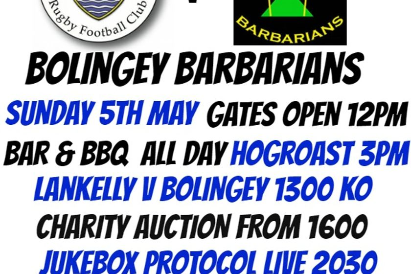 Lankelly V Bolingey Barbarians / Sun 5th May 2019