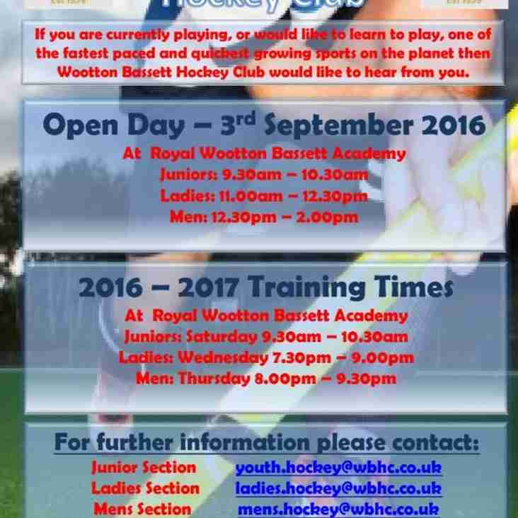 WBHC Open Day