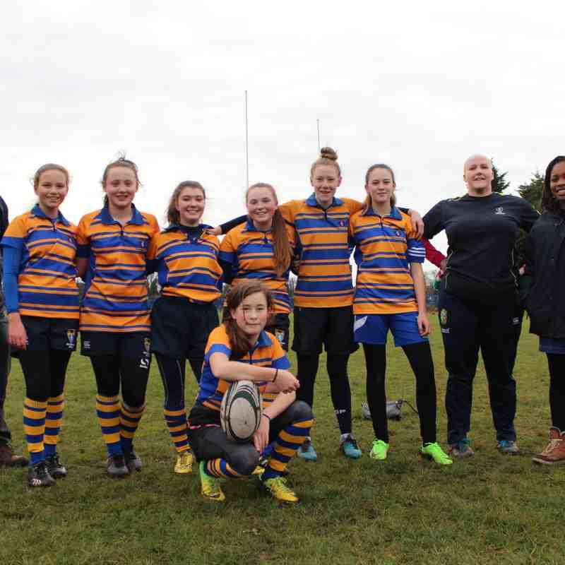 U13 Girls Team with coaches