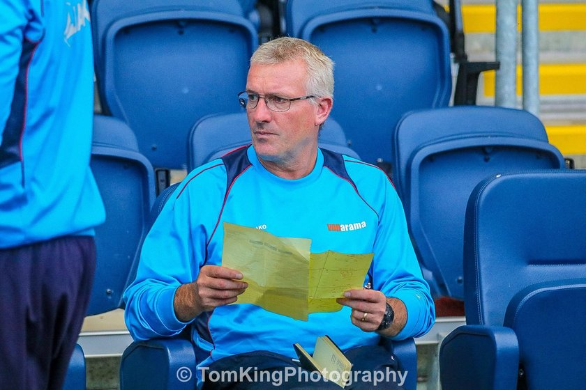 Tim Flowers reacts to AFC Fylde defeat