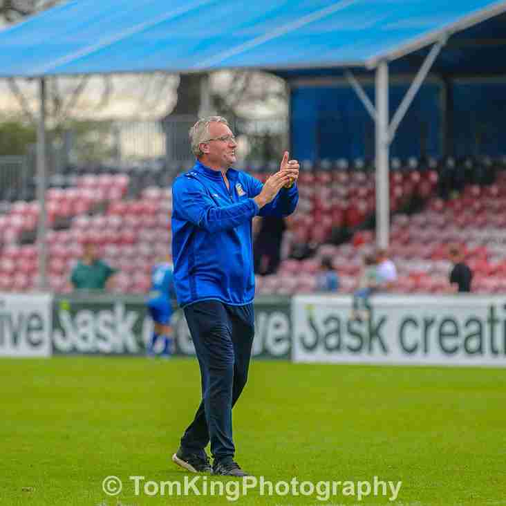 Tim Flowers reacts to Sutton draw