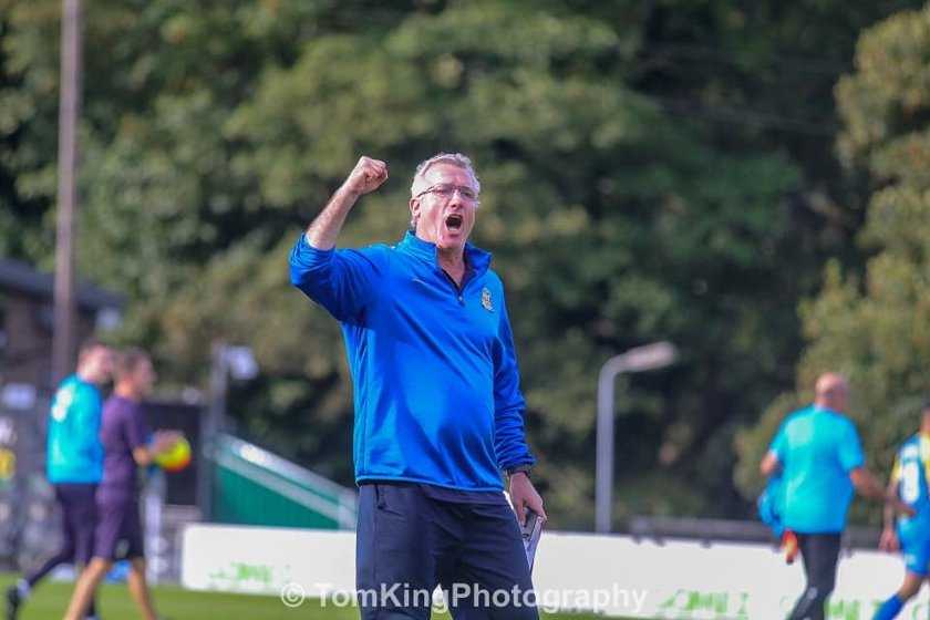Tim Flowers reacts to Dover victory