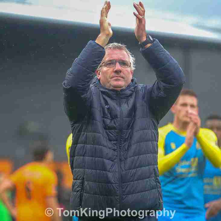 Tim Flowers reacts to Southport victory