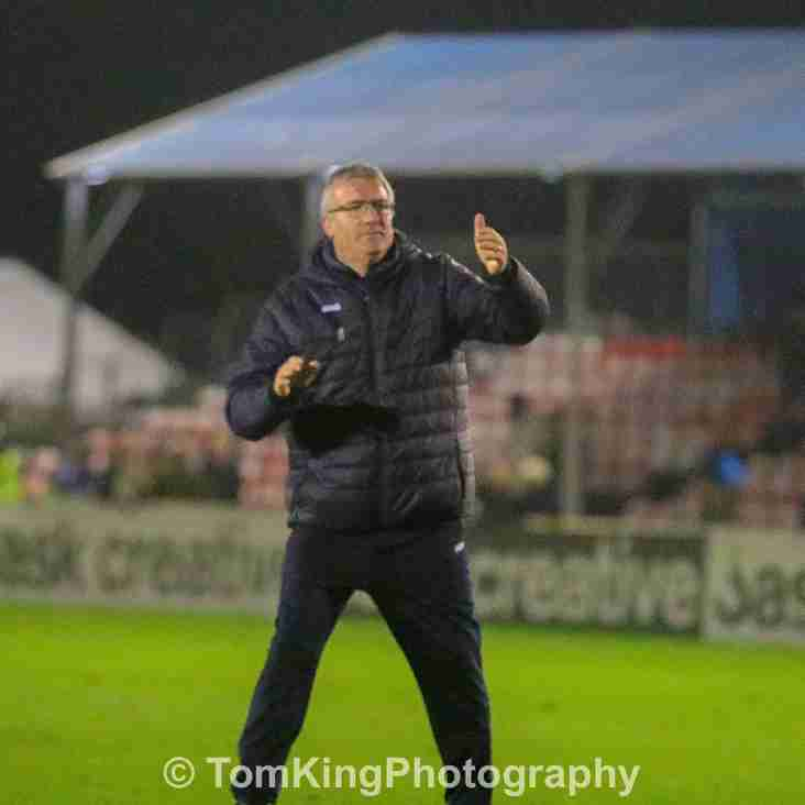 Tim Flowers reacts to Salford City draw
