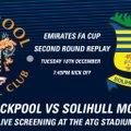 Club to screen Blackpool FA Cup replay
