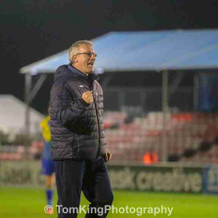 Tim Flowers reacts to Halifax victory