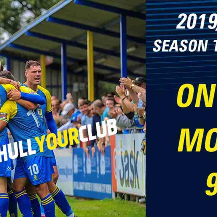 2019/20 Early Bird Season Tickets