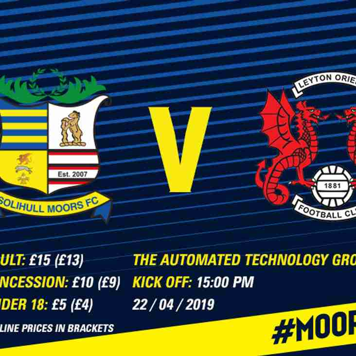 Tickets: Solihull Moors vs Leyton Orient