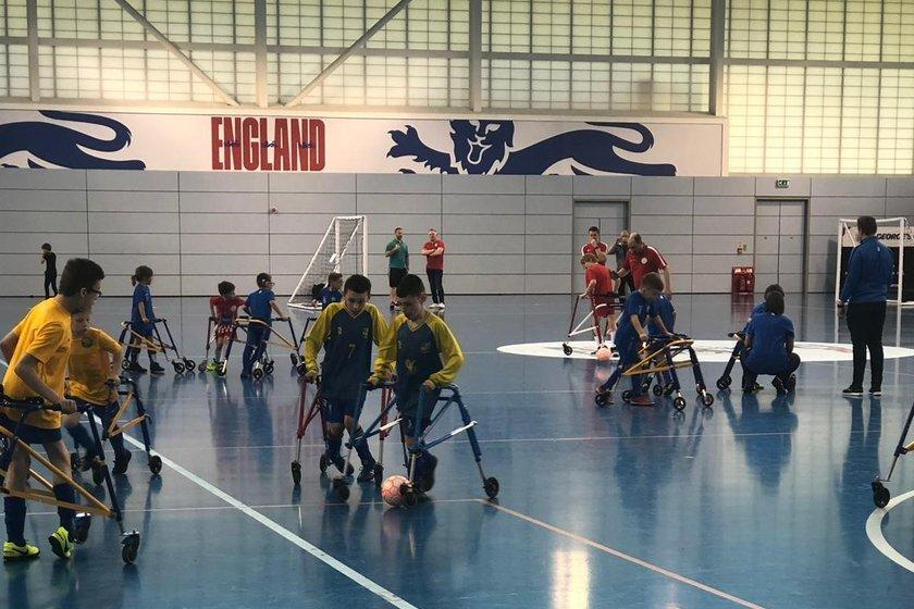 Frame Footballers visit St George's Park