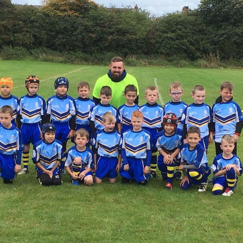 Under 7's Blues beat Leigh East Wolves 36 - 48
