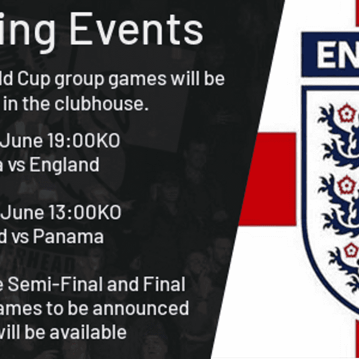 Englands World Cup Games Live at The Grove