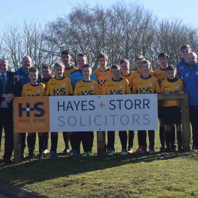 U14's Sponsors Hayes & Storr Solictors