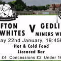 Clifton All Whites v Gedling MW - 22nd January -Kick Off 7.45pm
