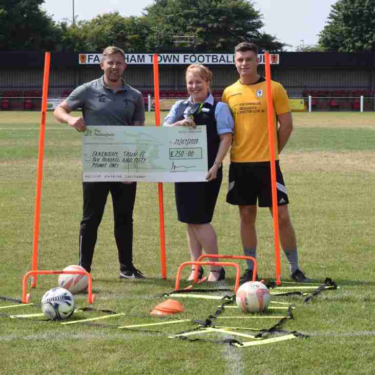 Club sponsorship by The Nottingham Building Society