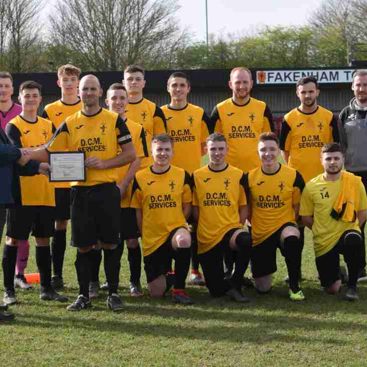 The Macron Sporting Award Presentation to the Reserves