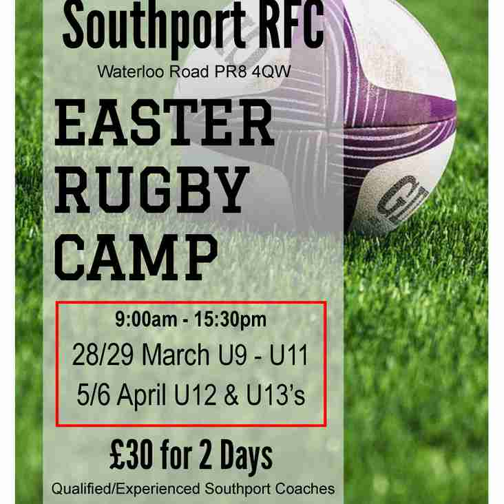 Easter Camp - Please support your club!