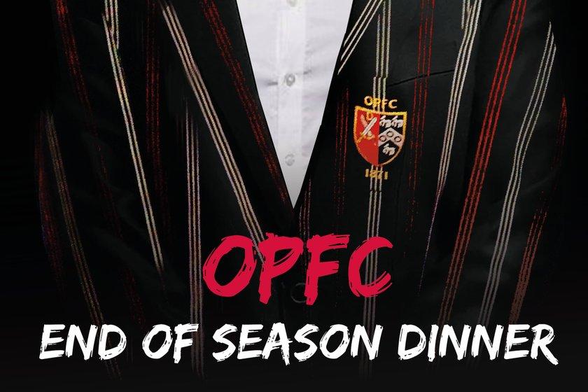 OPFC End of Season Dinner - Sat 14th April