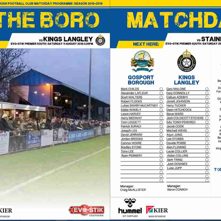 Download your matchday programme!