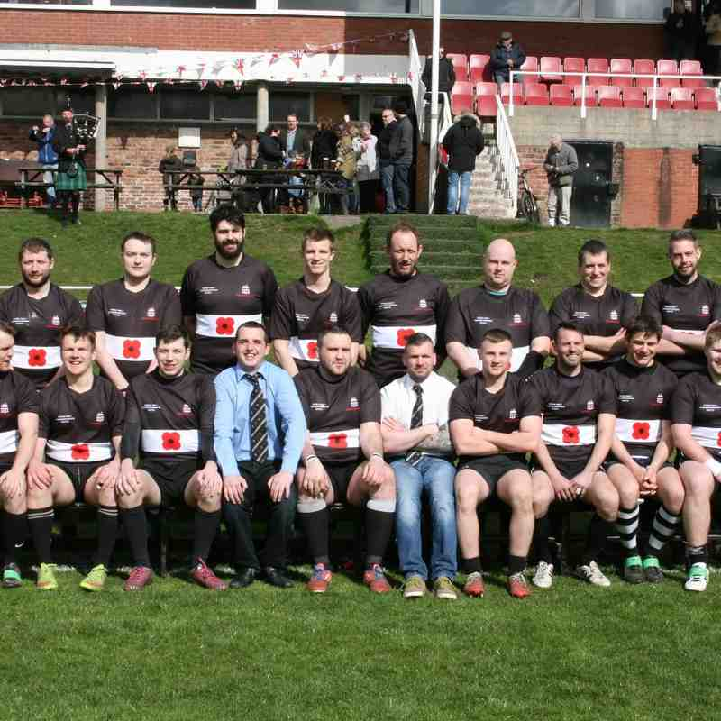 Commemorative WW1 match 11 April 2015