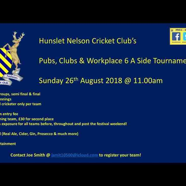 Hunslet Nelsons Pubs, Clubs & Workplace 6 A Side Tournament