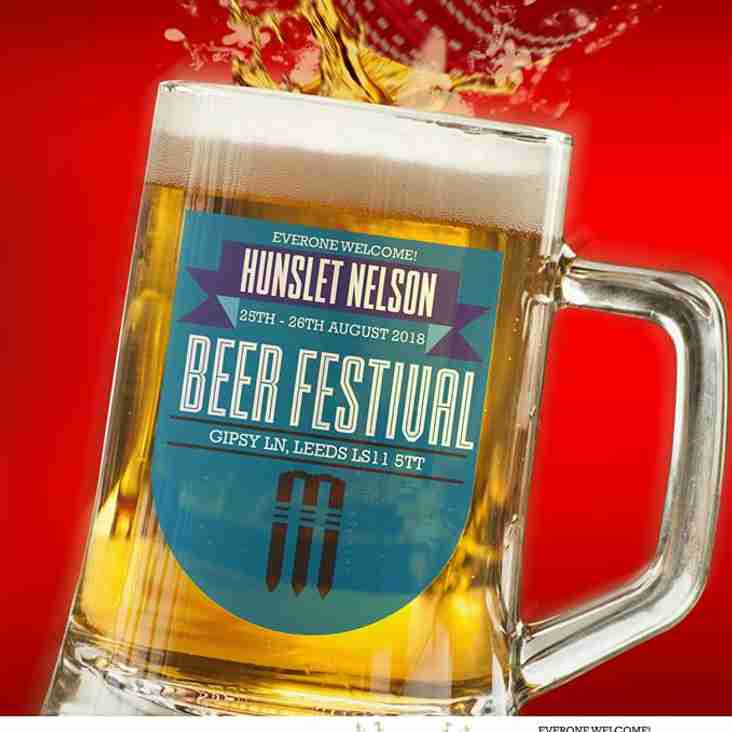 The inaugural Hunslet Nelson CC Beer Festival