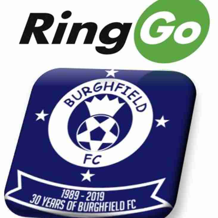 Burghfield FC announce new sponsorship deal with RingGo!