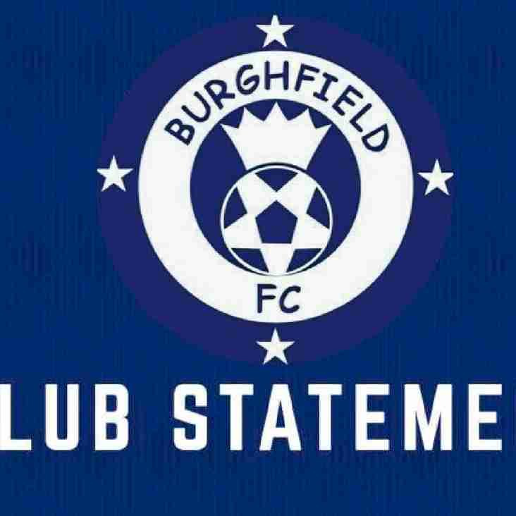 Burghfield FC - Club Statement