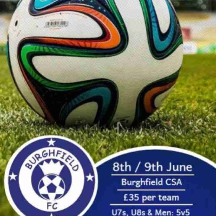 Entry Now Open For Burghfield FC Summer Tournament 2019!