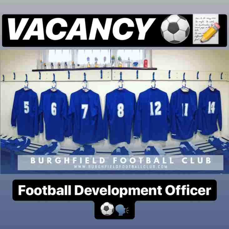 VACANCY - Football Development Officer