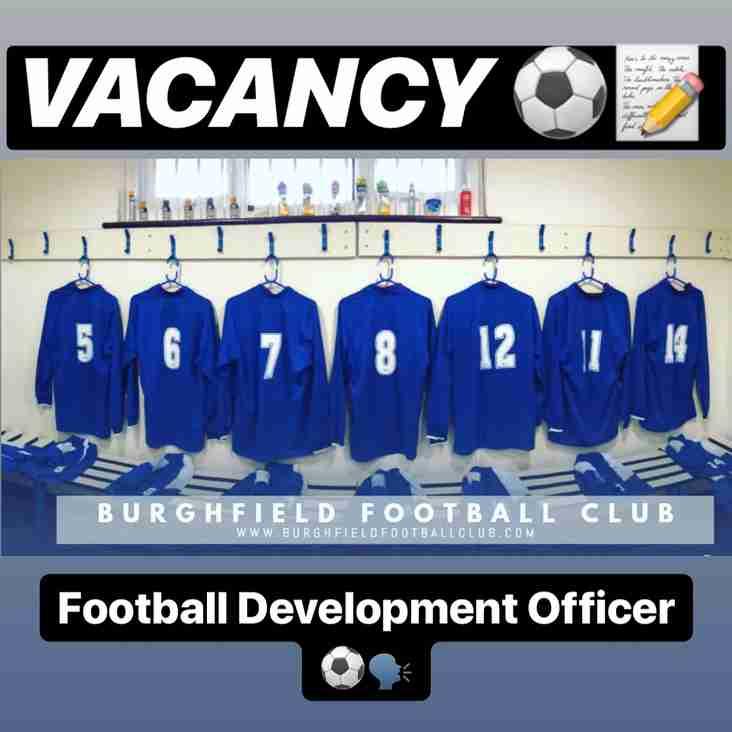 VACANCY - Football Development Officer