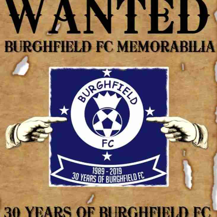 Burghfield FC Stories & Memorabilia Wanted!