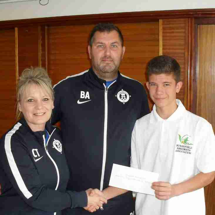 Burghfield Residents Association Kindly Donate £500 to BFC!