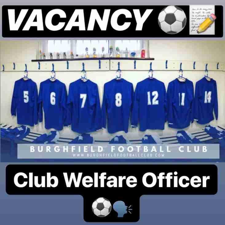 VACANCY - Club Welfare Officer