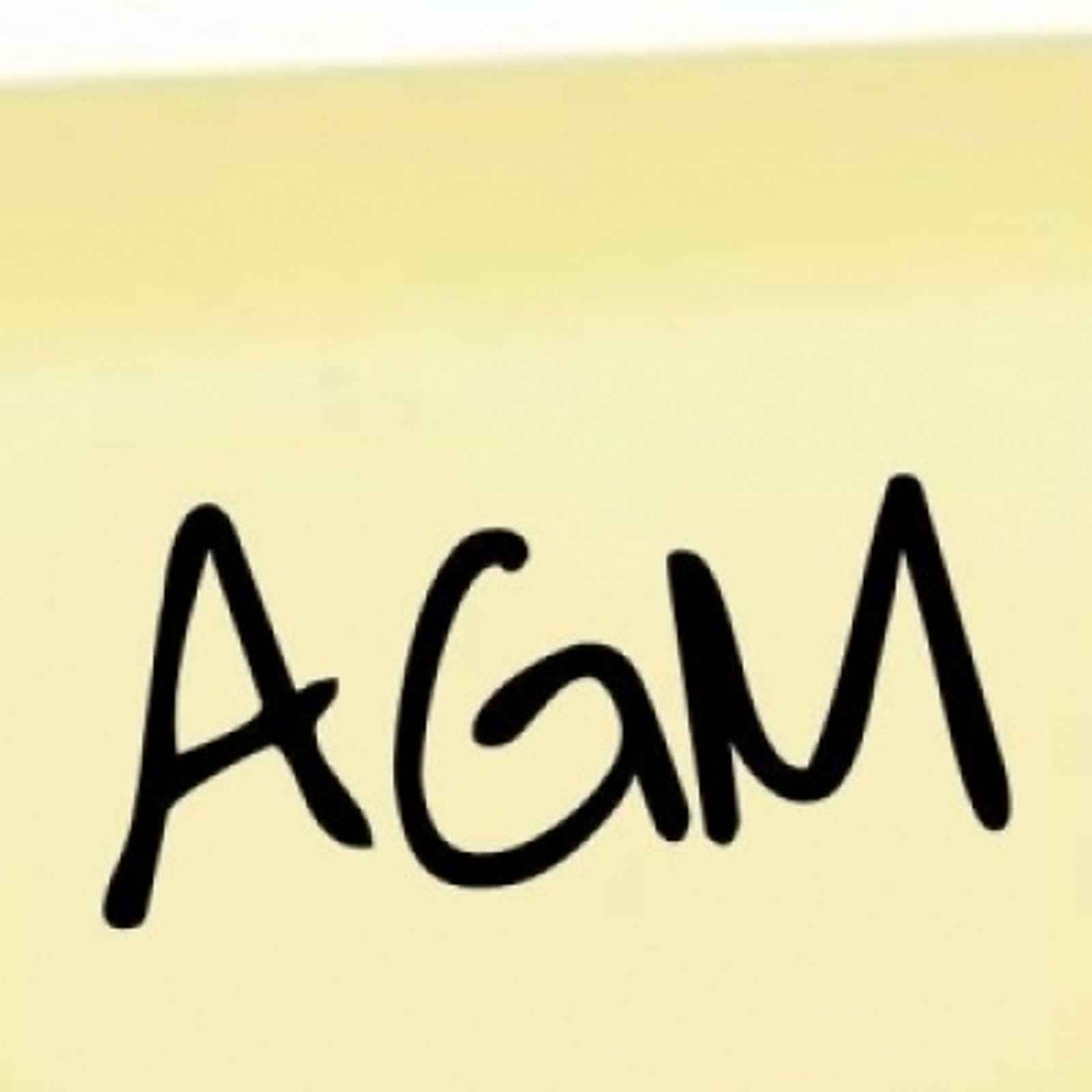 Annual General Meeting Monday 13th June 2016 8pm