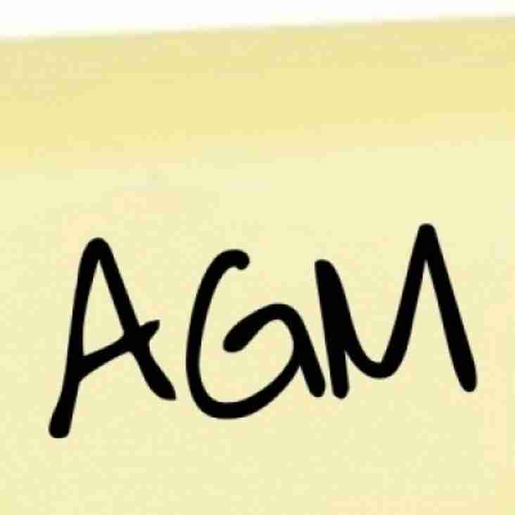 Annual General Meeting Monday 12th June 2017 8pm