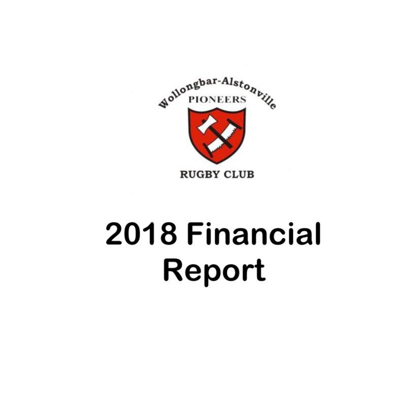 2018 WAR Financial Report