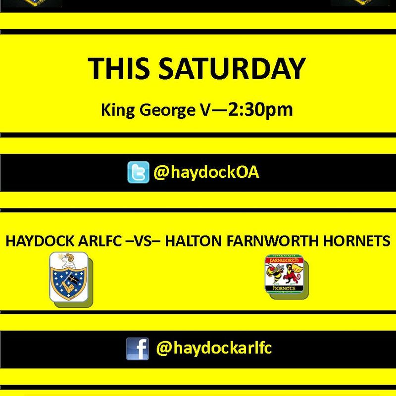 1st Team host Halton Farnworth Hornets
