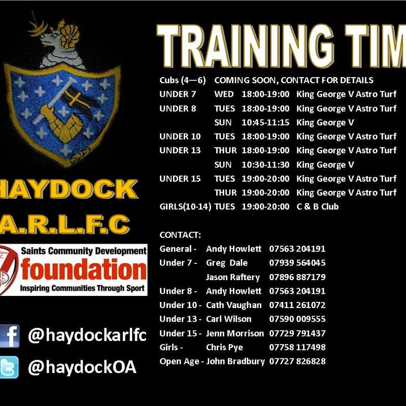 Training Times