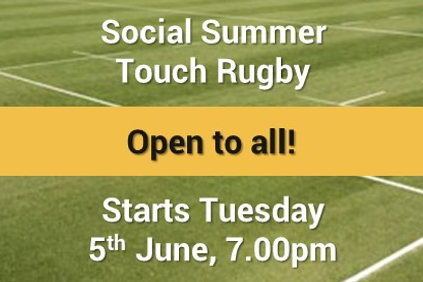 Summer touch -Tuesday evenings from 7pm