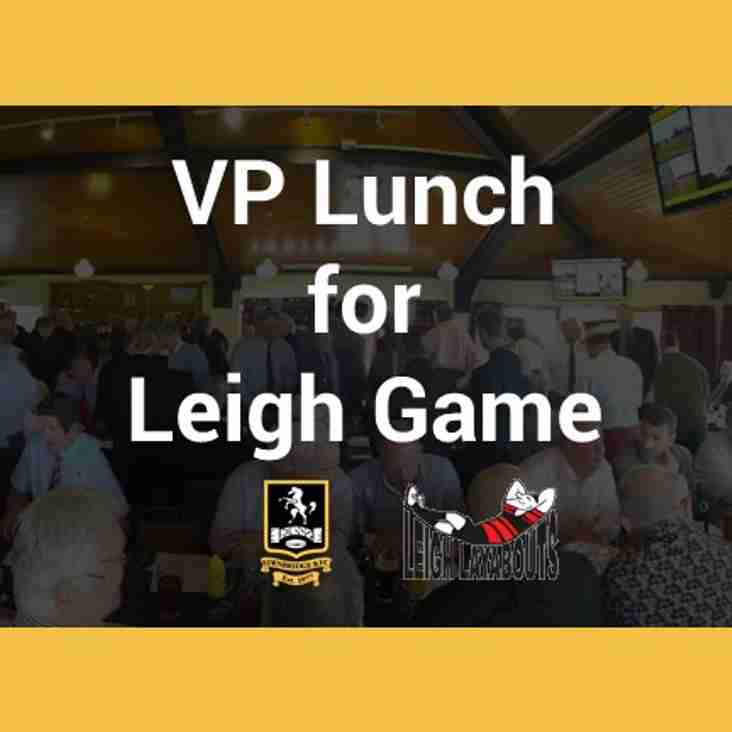 Pre-Match Lunch -17th November