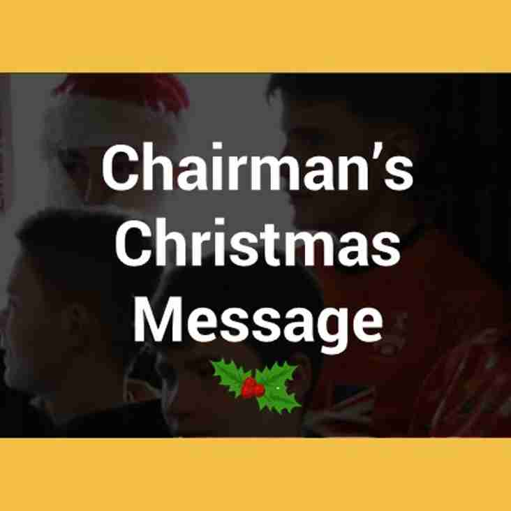 Our Chairman's Christmas Message