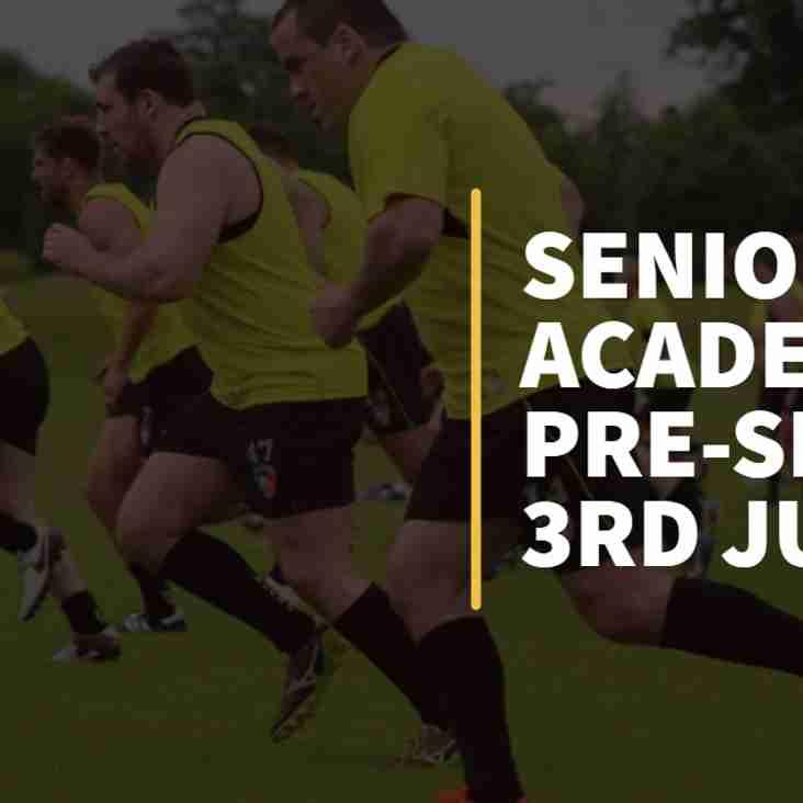 Senior & Academy Pre-Season