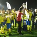 Notts Junior Cup Final at Green Lane - ABP fc lift the trophy