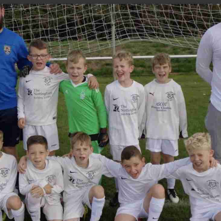 Under 9 Whites beat Lowdham with a brace