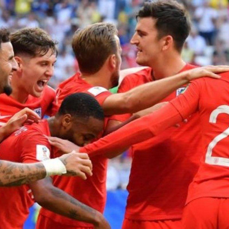 England Semi on massive screen at Cow Lane