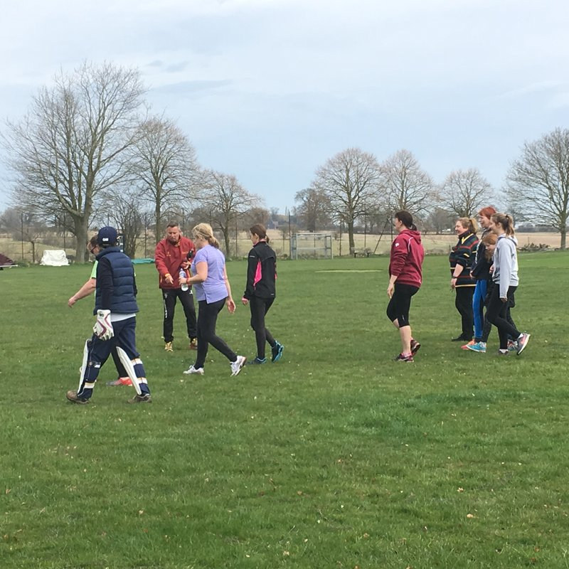 Ladies outdoor training starts
