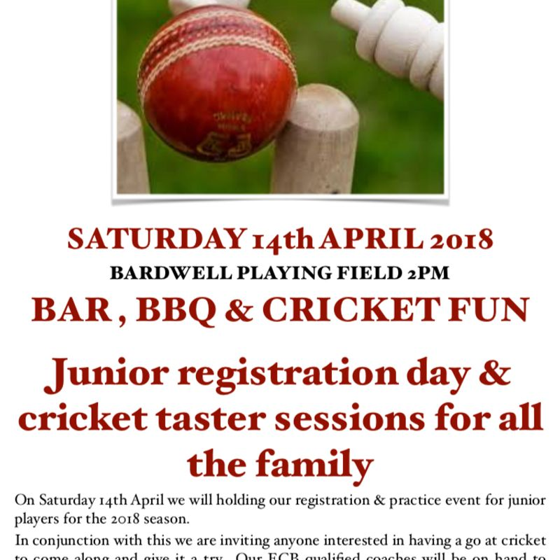Junior Registration Day and Cricket taster sessions